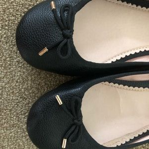 TopShop ballerina shoes in black. Like new